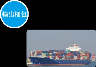 輸出梱包 繊維関連(生反・製品・糸・附属品等)、機械関連を中心にお客様の様々なオーダーに対応した輸出梱包を行っております。