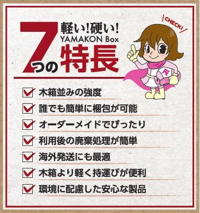 7つの特徴-YAMAKON BOX- 輸出梱包 ダンボール